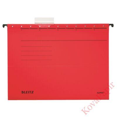 Függőmappa LEITZ Alpha Standard A/4 karton piros 25 db/doboz
