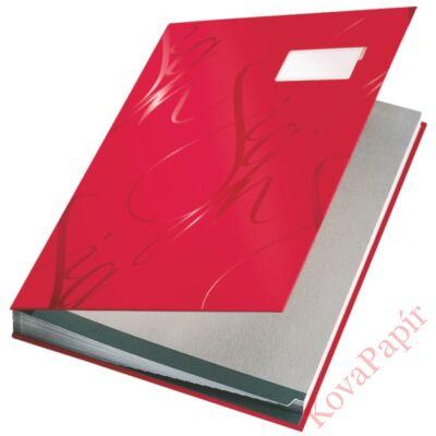 Aláírandókönyv LEITZ A/4 piros
