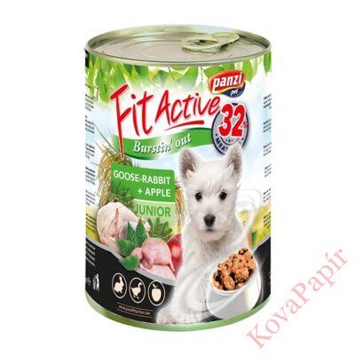 Állateledel konzerv PANZI FitActive junior kutyának liba- és nyúlhússal 415 g