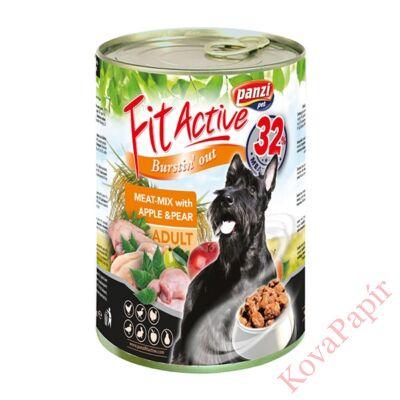 Állateledel konzerv PANZI FitActive kutyának hús-mix 415 g