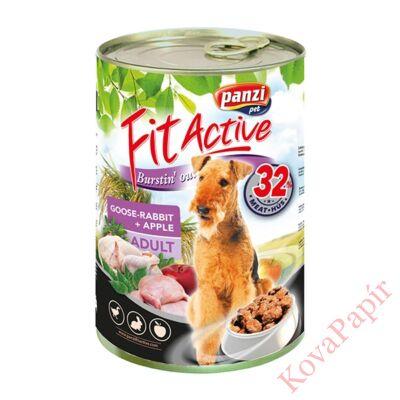 Állateledel konzerv PANZI FitActive kutyának liba- és nyúlhússal, almával 1240 g