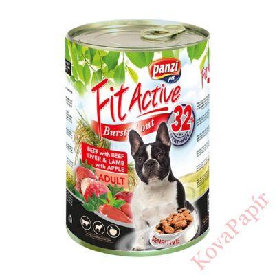 Állateledel konzerv PANZI FitActive kutyának marha- és bárányhússal, májjal 1240 g