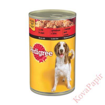 Állateledel konzerv PEDIGREE kutyáknak marhahússal 1200g