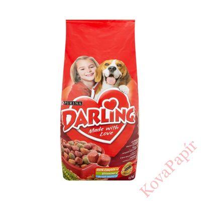 Állateledel száraz PURINA Darling kutyáknak hússal és zöldséggel 15kg