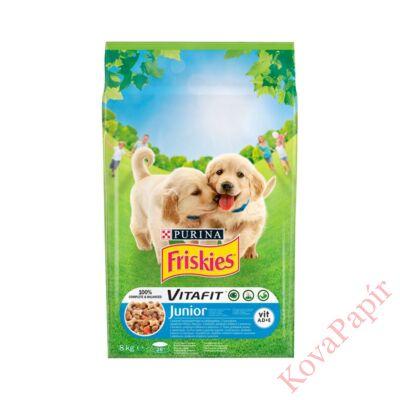 Állateledel száraz PURINA Friskies Vitafit Junior kutyáknak csirkehússal, zöldségekkel és tejjel 8kg