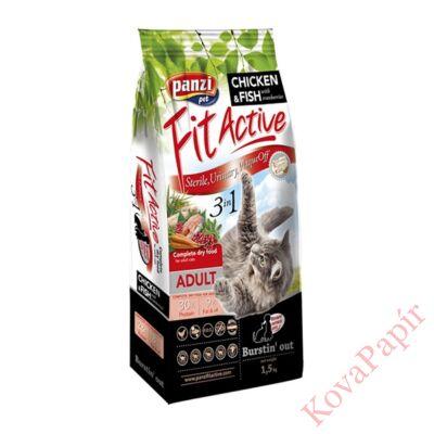 Állateledel száraz PANZI FitActive 3IN1 felnőtt macskáknak 1,5 kg