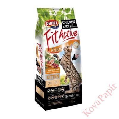 Állateledel száraz PANZI FitActive Kitten kölyök, vemhes és szoptatós macskák számára 1,5 kg
