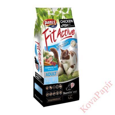 Állateledel száraz PANZI FitActive Sensitive felnőtt macskáknak 1,5 kg