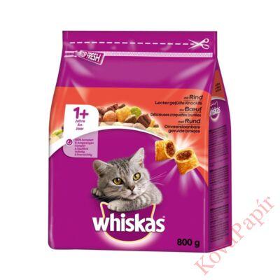 Állateledel száraz WHISKAS macskáknak marhahússal 800g