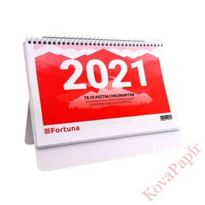 Asztali naptár FORTUNA TA23 holdfázissal 2021.