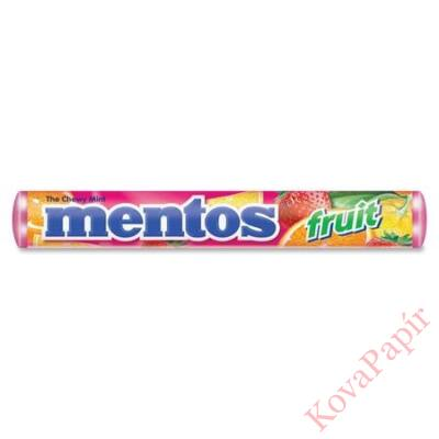 Cukordrazsé MENTOS Fruit 38g