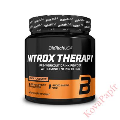 Edzés előtti formula BioTechUSA Nitrox Therapy barack 340 g