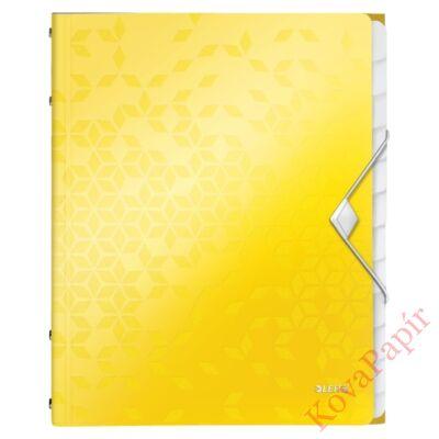 Előrendező LEITZ Wow A/4 12 részes sárga