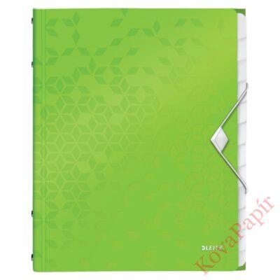 Előrendező LEITZ Wow A/4 12 részes zöld