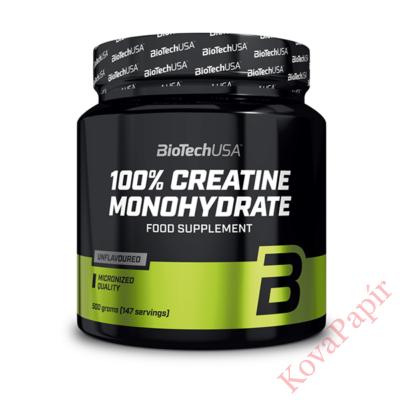 Étrend-kiegészítő italpor BioTechUSA 100% Creatine Monohydrate 500 g