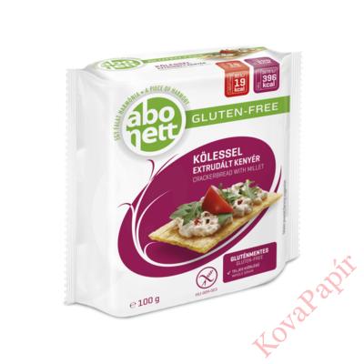 Extrudált kenyér ABONETT gluténmentes köleses 100g