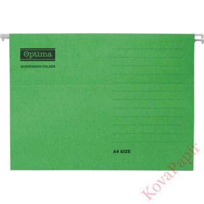 Függőmappa OPTIMA A/4 zöld 25db/csomag