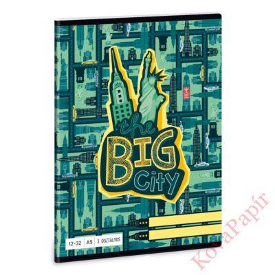 Füzet ARS UNA A/5 32 lapos vonalas 12-32 III. osztályos The Big City