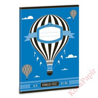 Füzet ARS UNA A/5 32 lapos vonalas 21-32 Design