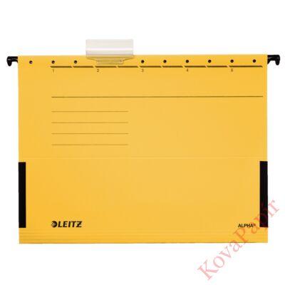 Függőmappa oldalvédelemmel LEITZ Alpha Standard A/4 karton sárga 25 db/doboz