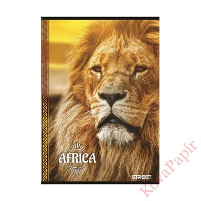 Füzet STREET Africa A/4 54 lapos kockás