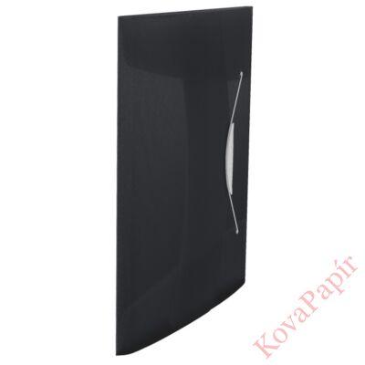 Gumis mappa ESSELTE Vivida A/4 műanyag fekete