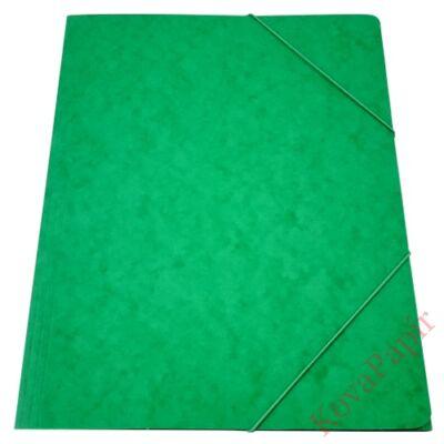 Gumis mappa prespán zöld 345gr