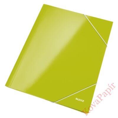 Gumis mappa LEITZ metálfényű zöld