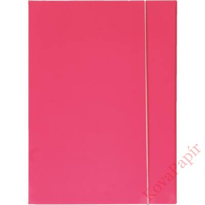 Gumis mappa OPTIMA A/4 fluo pink 600gr