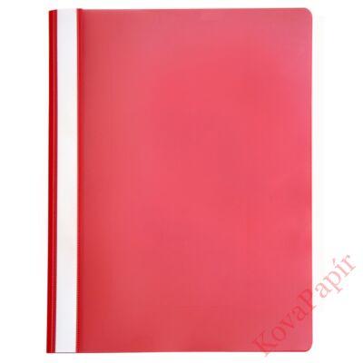 Gyorsfűző OPTIMA A/4 műanyag piros