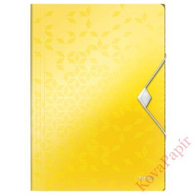 Gumis mappa LEITZ Wow A/4 műanyag sárga