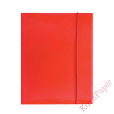 Gumismappa OPTIMA A/4 piros 400gr