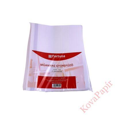 Gyorsfűző FORTUNA műanyag fehér 25 db/csomag