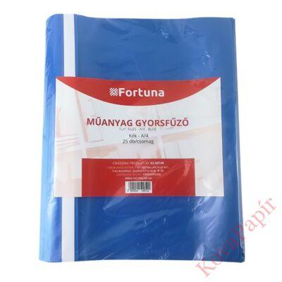 Gyorsfűző FORTUNA műanyag kék 25 db/csomag