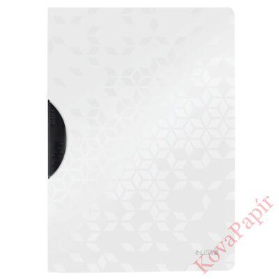 Gyorsfűző LEITZ Wow Colorclip A/4 fehér