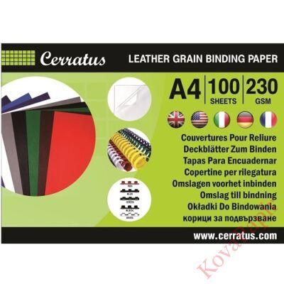 Hátlap CERRATUS A/4 230 gr bőrhatású piros