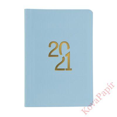Határidőnapló TOPTIMER Pastel P022 B/6 napi fehér lapos kék 2021.