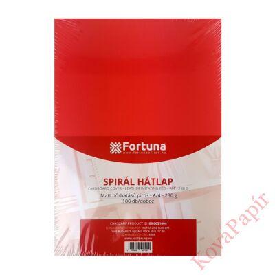 Hátlap FORTUNA A/4 230g matt bőrhatású piros 100/dob