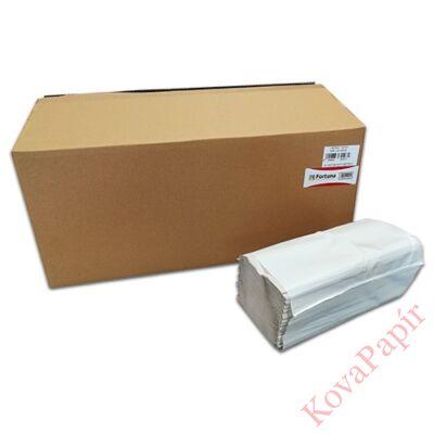 Kéztörlő hajtogatott Z/V FORTUNA 1 rétegű natúr 24x22 cm 250 lap 20/dob