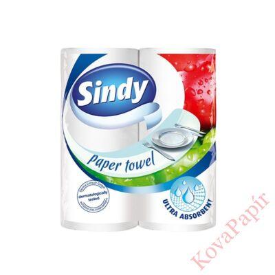 Kéztörlő tekercses háztartási SINDY 2 rétegű 2 tekercses