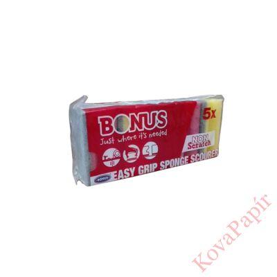 Mosogatószivacs BONUS formázott 9,5x7,1x22,5 cm  5 db-os