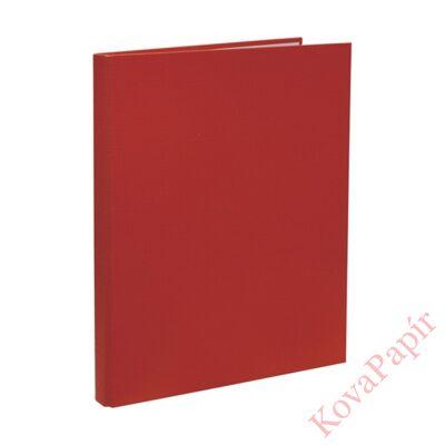 Mappa villámzáras OPTIMA A/4 karton piros