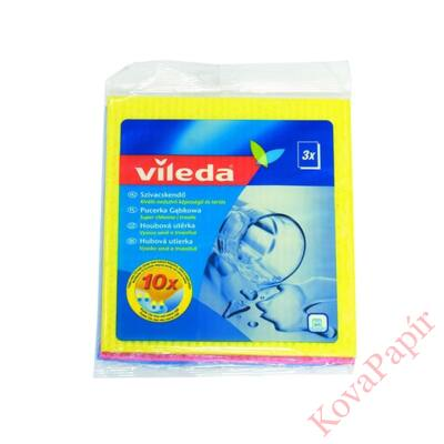 Mosogatókendő VILEDA Classic szuper nedvszívó 18x20 cm 3 db
