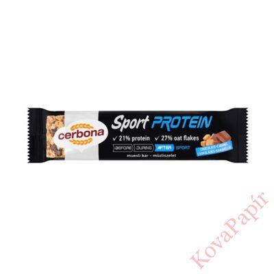 Müzliszelet CERBONA Protein csokoládés-karamellás 35g