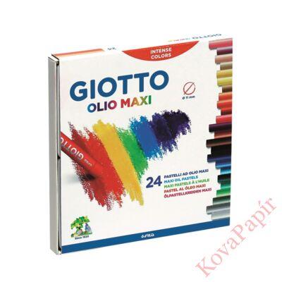 Olajpasztell kréta GIOTTO Olio Maxi 11mm 24 db/készlet