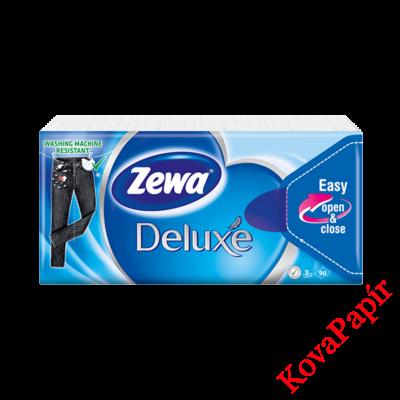 Papírzsebkendő ZEWA Delux 3 rétegű 10x10 db-os Normál
