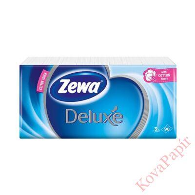 Papírzsebkendő ZEWA Deluxe 3 rétegű 90 db-os Normál
