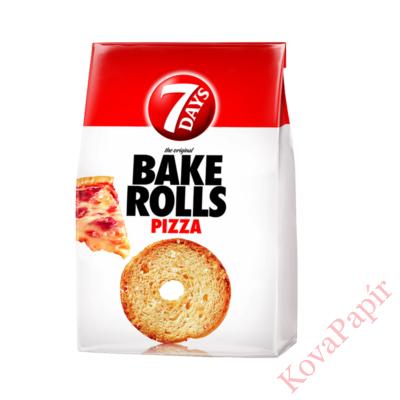 Kétszersült kenyérkarika 7DAYS Bake Rolls pizza ízű 80g