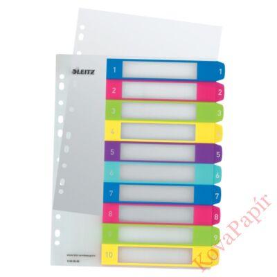 Regiszter LEITZ Wow műanyag nyomtatható extra széles 1-10