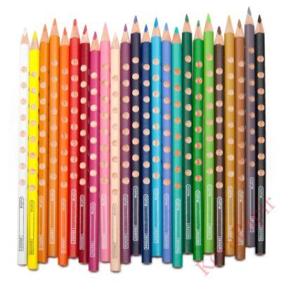 Színes ceruza LYRA Groove Slim háromszögletű vékony sötétszürke